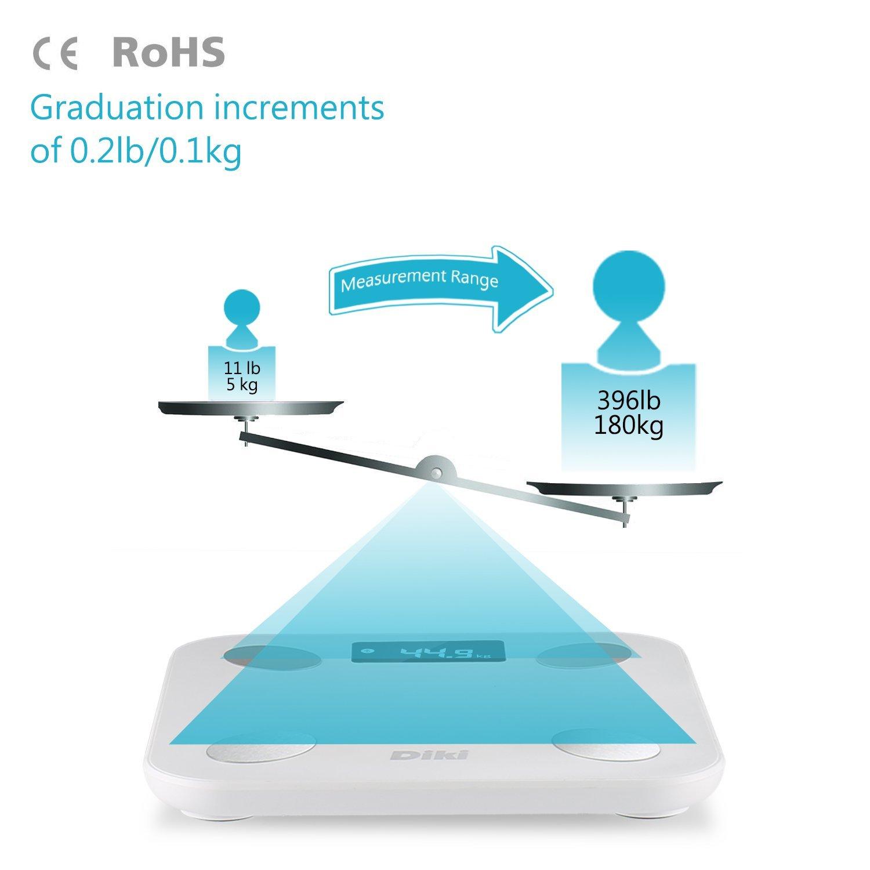 Bathroom Scales Diki Digital Body Fat Scale Bluetooth
